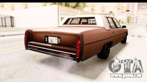 GTA 5 Albany Emperor SA Style pour GTA San Andreas laissé vue