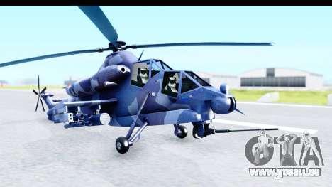 Denel AH-2 Rooivalk Blue pour GTA San Andreas