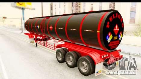Trailer Fuel pour GTA San Andreas sur la vue arrière gauche