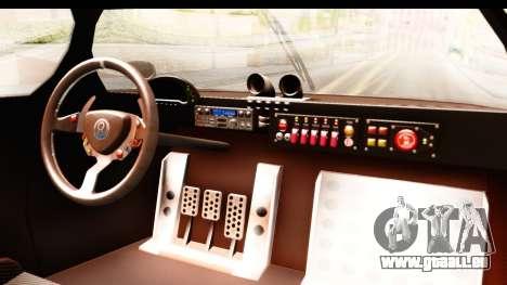 GTA 5 Annis RE-7B pour GTA San Andreas vue intérieure