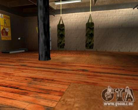 Nouveau militaire sac de boxe pour GTA San Andreas deuxième écran