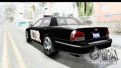 Vapid ULTOR Police Cruiser pour GTA San Andreas laissé vue