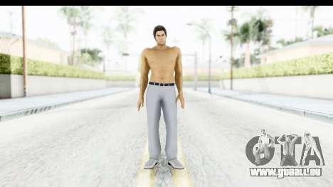 Yakuza 5 Kazuma Kiryu Topless Tatoo für GTA San Andreas zweiten Screenshot