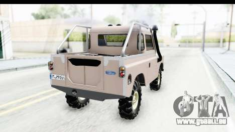 Land Rover Pickup Series3 pour GTA San Andreas laissé vue
