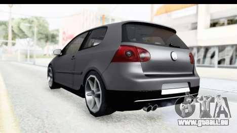 Volkswagen Golf 5 Stock pour GTA San Andreas laissé vue