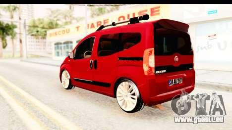 Fiat Fiorino v2 für GTA San Andreas zurück linke Ansicht