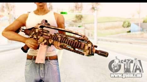 SCAR-LK Hex Camo Green pour GTA San Andreas troisième écran