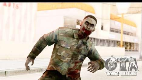 Left 4 Dead 2 - Zombie Military pour GTA San Andreas