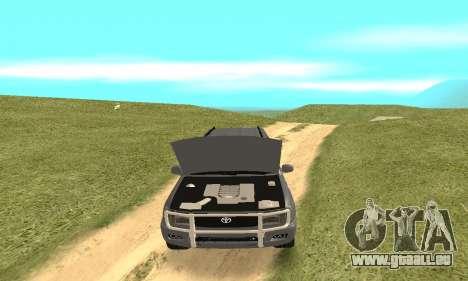 Toyota Land Cruiser 100 pour GTA San Andreas vue de côté