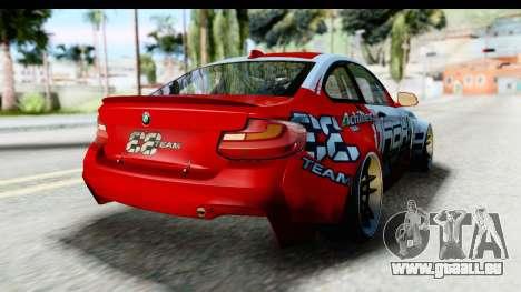 BMW M235i HGK pour GTA San Andreas vue de droite