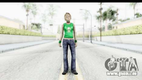 Silent Hill 3 - Heather Sporty Green Get A Life für GTA San Andreas zweiten Screenshot