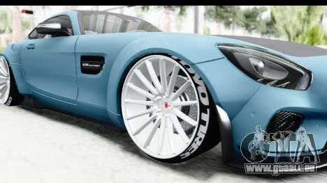 Mercedes-Benz AMG GT Prior Design pour GTA San Andreas vue arrière