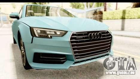 Audi A4 TFSI Quattro 2017 für GTA San Andreas Seitenansicht