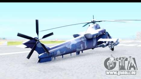 Denel AH-2 Rooivalk Blue pour GTA San Andreas laissé vue