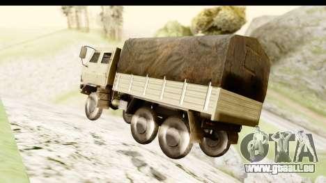 Dongfeng SX Military Truck pour GTA San Andreas vue de droite