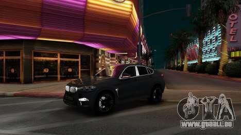 BMW X6M Bulkin Edition pour GTA San Andreas laissé vue