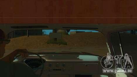 Chevrolet Apache pour GTA San Andreas vue intérieure