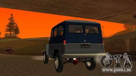 Jeep Station Wagon 1959 pour GTA San Andreas vue de dessus