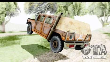 Rusted Patriot pour GTA San Andreas sur la vue arrière gauche
