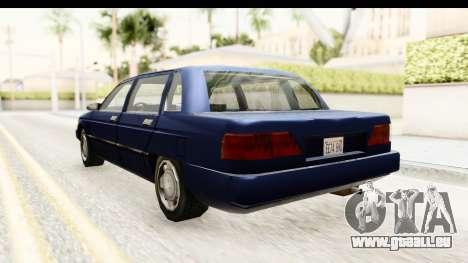 Solair Sedan pour GTA San Andreas sur la vue arrière gauche