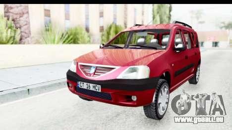 Dacia Logan MCV pour GTA San Andreas vue de droite