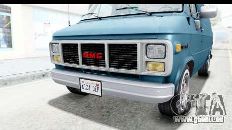 GMC Vandura 1985 White Stripes IVF für GTA San Andreas Unteransicht