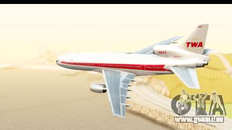 Lockheed L-1011-100 TriStar Trans World Airlines für GTA San Andreas linke Ansicht