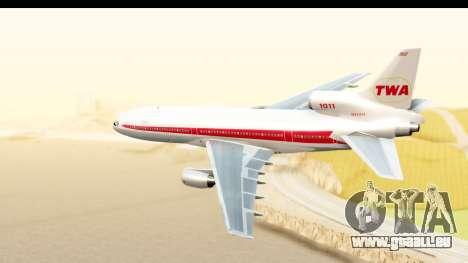 Lockheed L-1011-100 TriStar Trans World Airlines pour GTA San Andreas laissé vue
