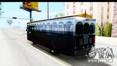 Cas Ligas Terengganu City Bus Updated pour GTA San Andreas laissé vue