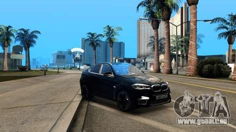 BMW X6M Bulkin Edition für GTA San Andreas Innenansicht