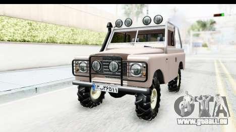 Land Rover Pickup Series3 pour GTA San Andreas vue de droite