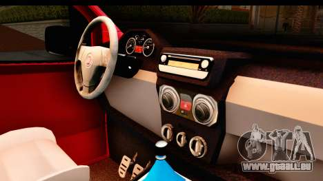 Fiat Fiorino v2 für GTA San Andreas Innenansicht