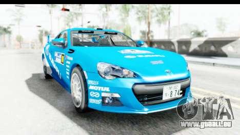 Subaru BRZ Rally pour GTA San Andreas sur la vue arrière gauche