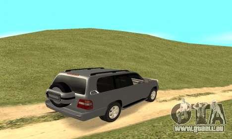 Toyota Land Cruiser 100 pour GTA San Andreas vue arrière