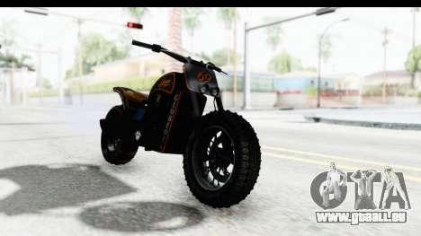 GTA 5 Western Gargoyle Custom v1 pour GTA San Andreas sur la vue arrière gauche
