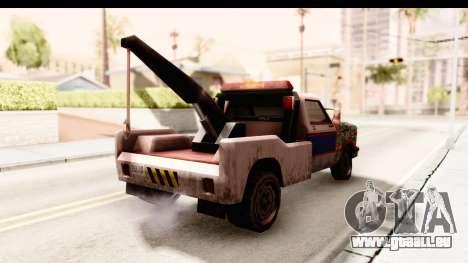 Towtruck Sticker Bomb pour GTA San Andreas sur la vue arrière gauche