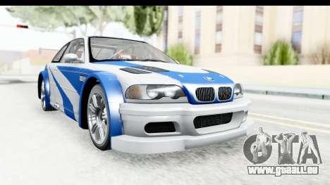 NFS: MW - BMW M3 GTR pour GTA San Andreas