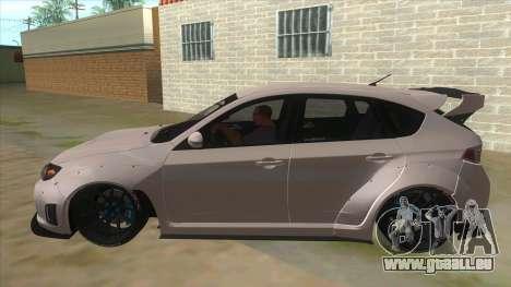 2008 Subaru WRX Widebody L3D pour GTA San Andreas laissé vue