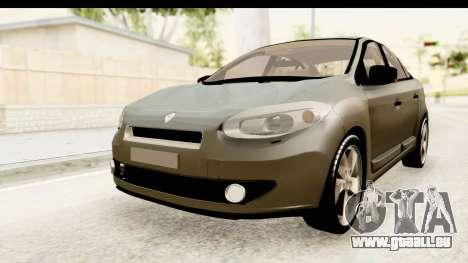 Renault Fluence v2 für GTA San Andreas rechten Ansicht