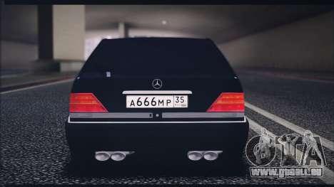 Mercedes-Benz W140 für GTA San Andreas rechten Ansicht