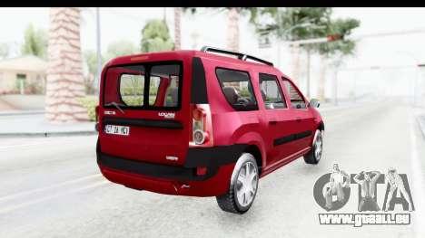 Dacia Logan MCV pour GTA San Andreas laissé vue