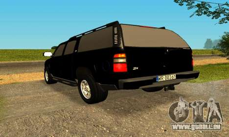 Chevrolet Colorado pour GTA San Andreas vue de droite