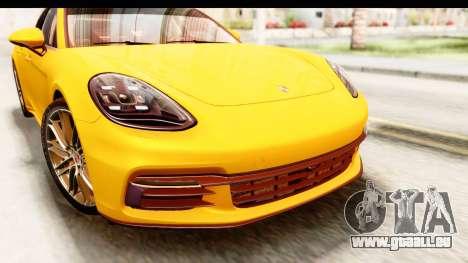 Porsche Panamera 4S 2017 v3 für GTA San Andreas Rückansicht