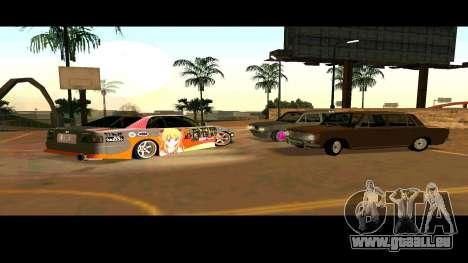 Toyota Chaser pour GTA San Andreas vue de dessous