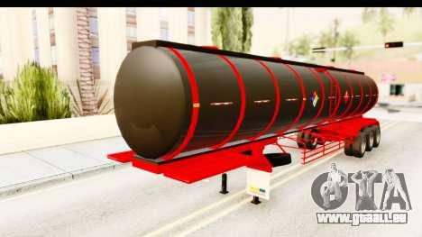 Trailer Fuel pour GTA San Andreas vue de droite