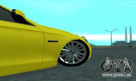 BMW 525 Gold pour GTA San Andreas vue arrière
