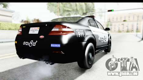 Sri Lanka Police Car v1 für GTA San Andreas rechten Ansicht
