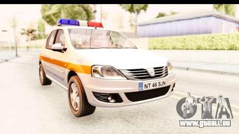 Dacia Logan Facelift Ambulanta v2 pour GTA San Andreas vue de droite