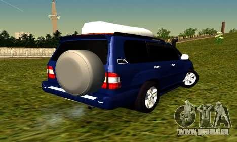 Toyota Land Cruiser 100vx2 pour GTA San Andreas sur la vue arrière gauche