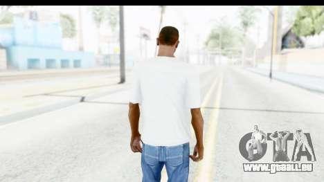 Captain America White T-Shirt pour GTA San Andreas troisième écran